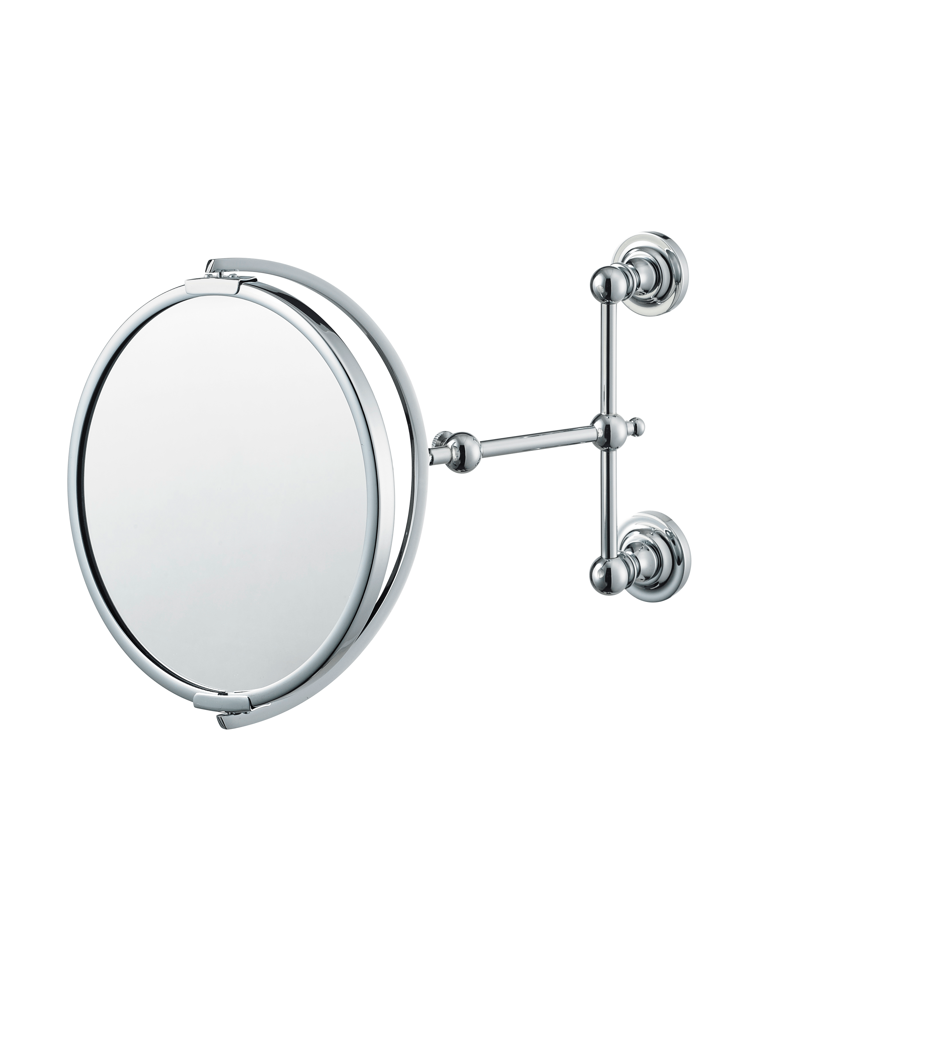 pivoting makeup mirror with concealed wall mounts