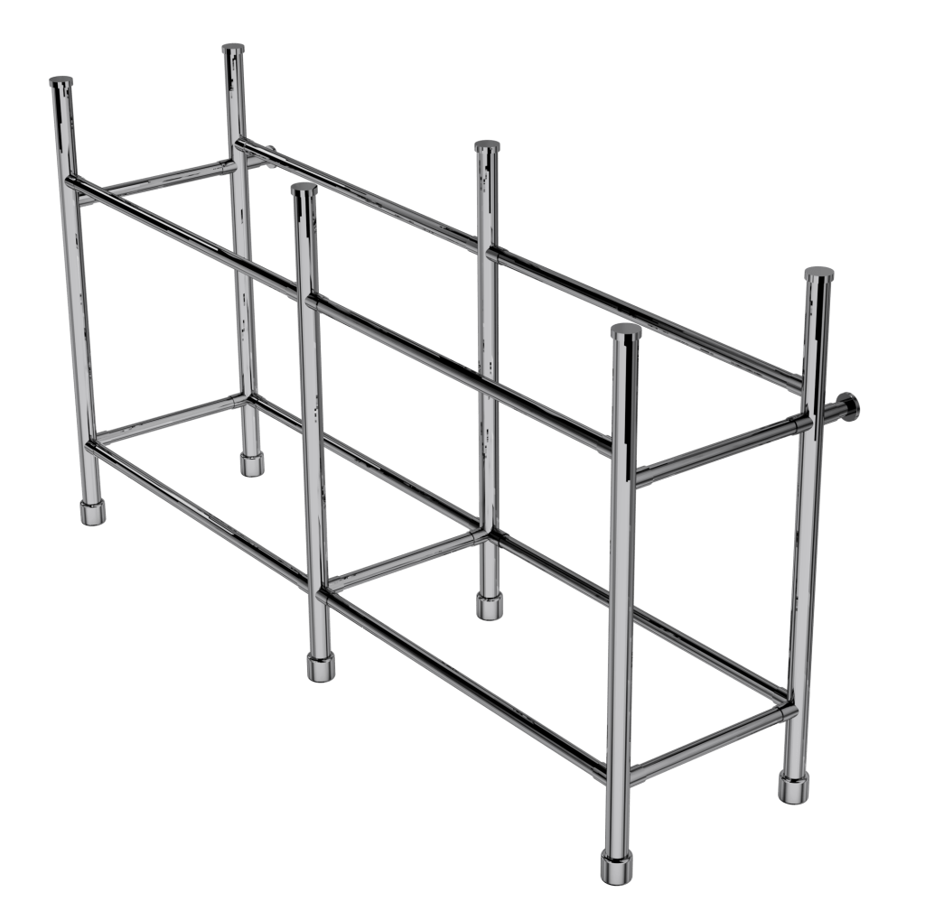 contemporary six leg basin stand with shelf support