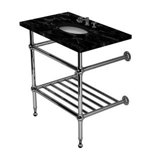 Classic Two Leg Washstand With Rack