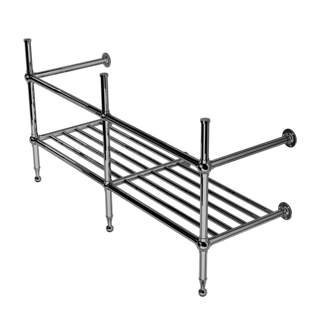 Classic Three Leg Basin Stand With Rack