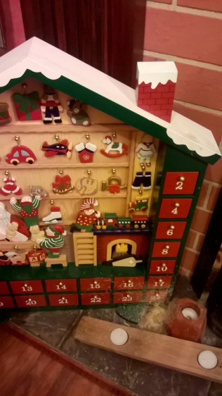 The splashes of wax melted onto our Advent calendar