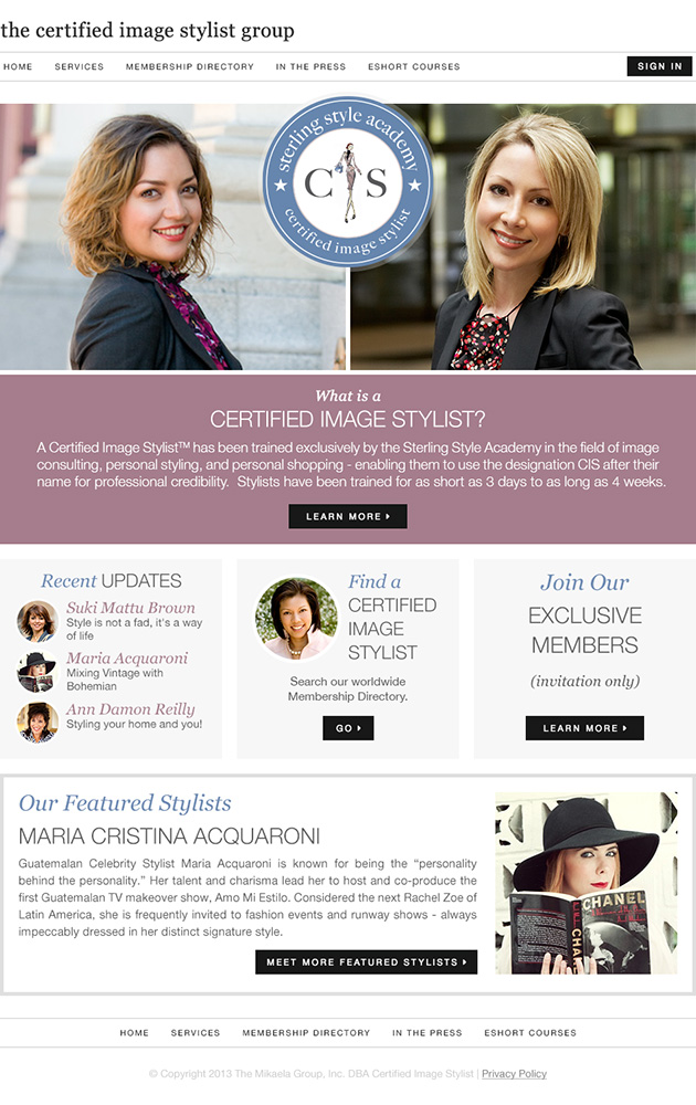 The Certified Image Stylist Group Home Page