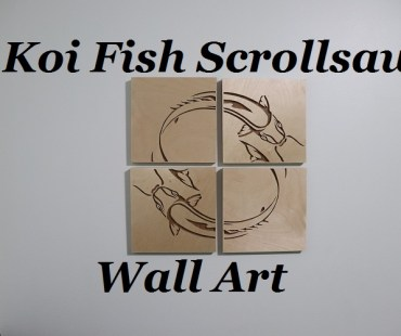 Koi Fish Scrollsaw Wall Art