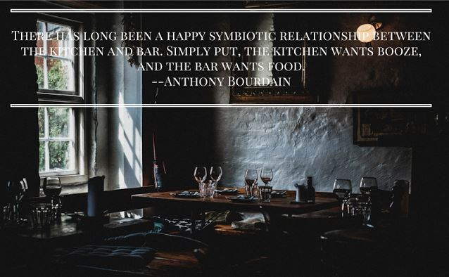 Anthony Bourdain On Booze And Food
