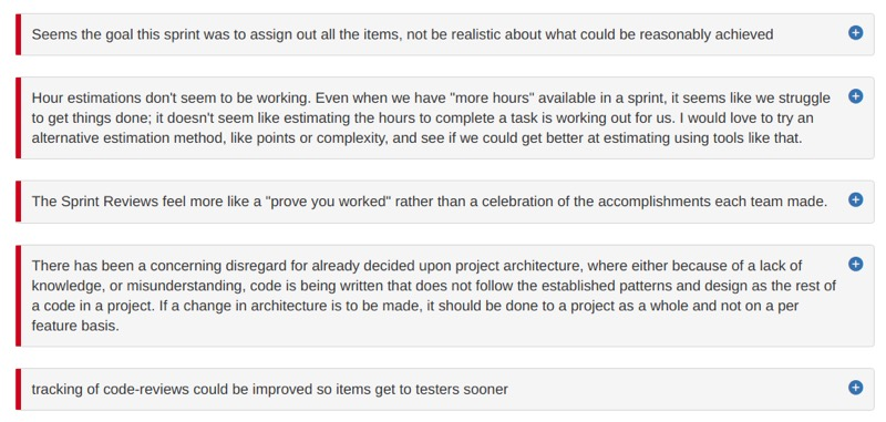 These Are Sprint Retrospective Examples, Going Badly