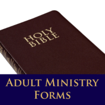 Adult Ministry Forms
