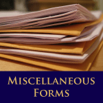Miscellaneous Forms1