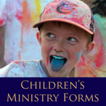 Children's Ministry Forms