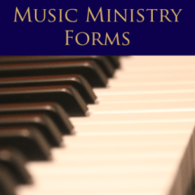 Music Ministry Forms