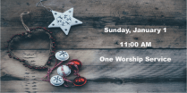 Join us on Sunday, January 1, at 11 AM