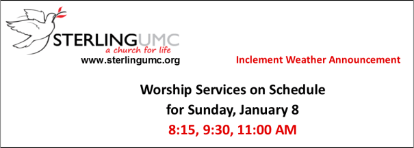 Worship Services on Schedule for Tomorrow