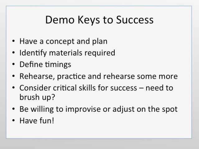 Review - Keys to success