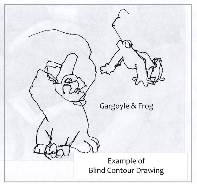 Blind Contour Drawing Example
