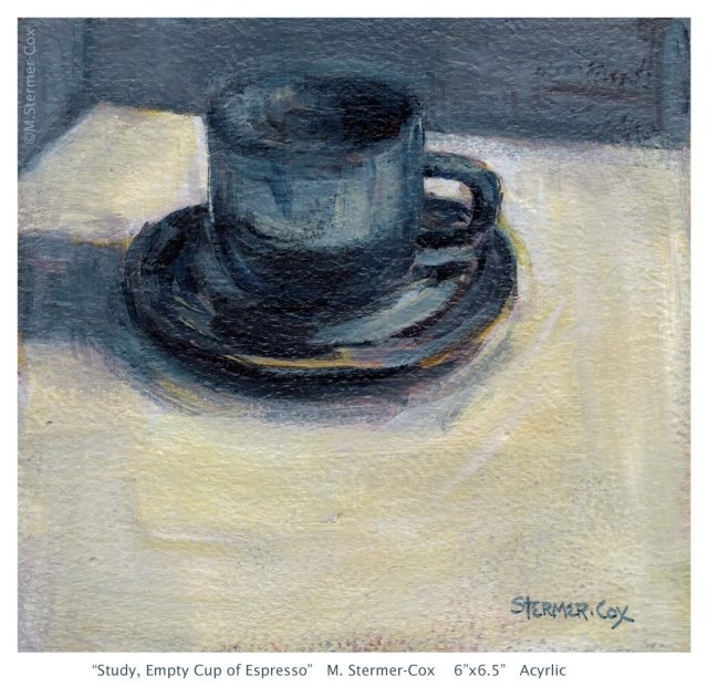 Day Minus One: 31 Day Challenge, Empty Espresso Cup