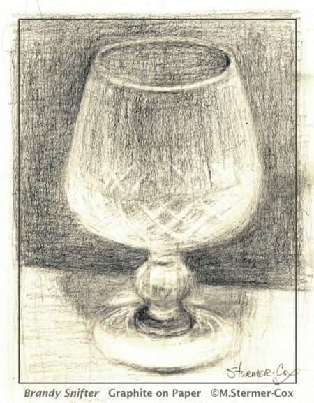 Busy but still drawing: Brandy Snifter