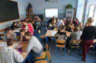 Warsztaty dla uczniów gimnazjum w Goworowie