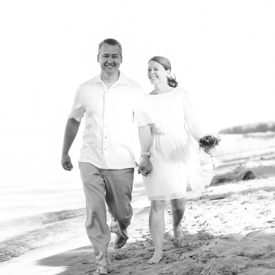 beach, lake superior wedding