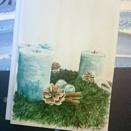 Adventskranz Aquarell