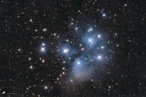 Der offene Sternhaufen Plejaden (M45)