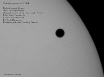 Venustransit vom 8. Juni 2004