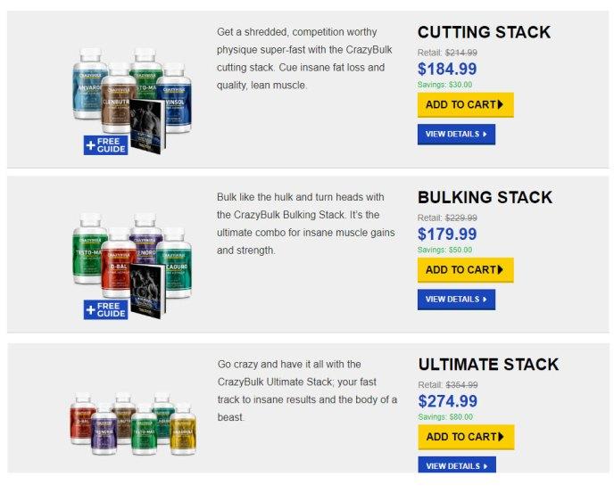 Crazy Bulk Legal Steroids Stacks