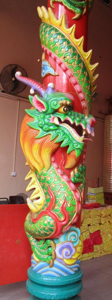 Post in Chinese Temple, Kuala Lumpur