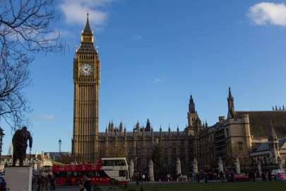 Cliche shot, but I just had to put it in. Includes the backend of the Churchill Statue