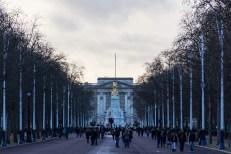 View along The Mall toward Buckingham Palace, London