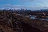 Þingvellir at Dawn. Sometime between 9:30 and 11:30 a.m.