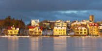 The frozen lake of Tjörnin in the heart of Reykjavik is the perfect place for a perfect house.