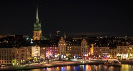 Old Town Stockholm at night