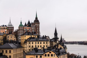 View from our hotel of a small area of Stockholm
