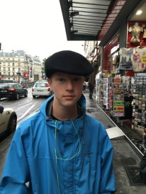 Steven Dansie with his hat from Montmartre