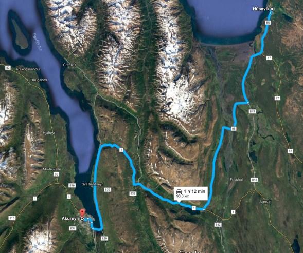 Husavik to Akureyri
