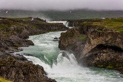 As we walk toward Goðafoss