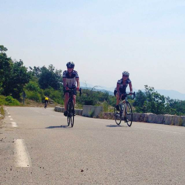 Steve And Carole In Vence -Cycling the Vence 7 Village Loop
