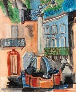 Raoul Dufy - La Fontaine de Vence