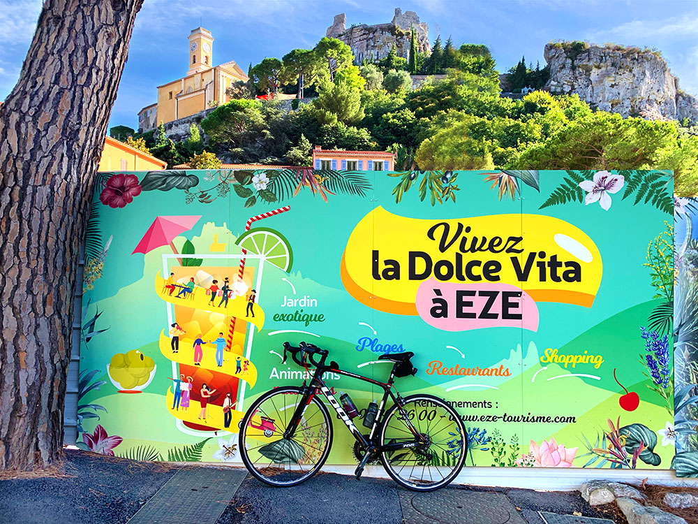 Steve and Carole in Vence - 73 Villages by Bike - La Turbie & Eze