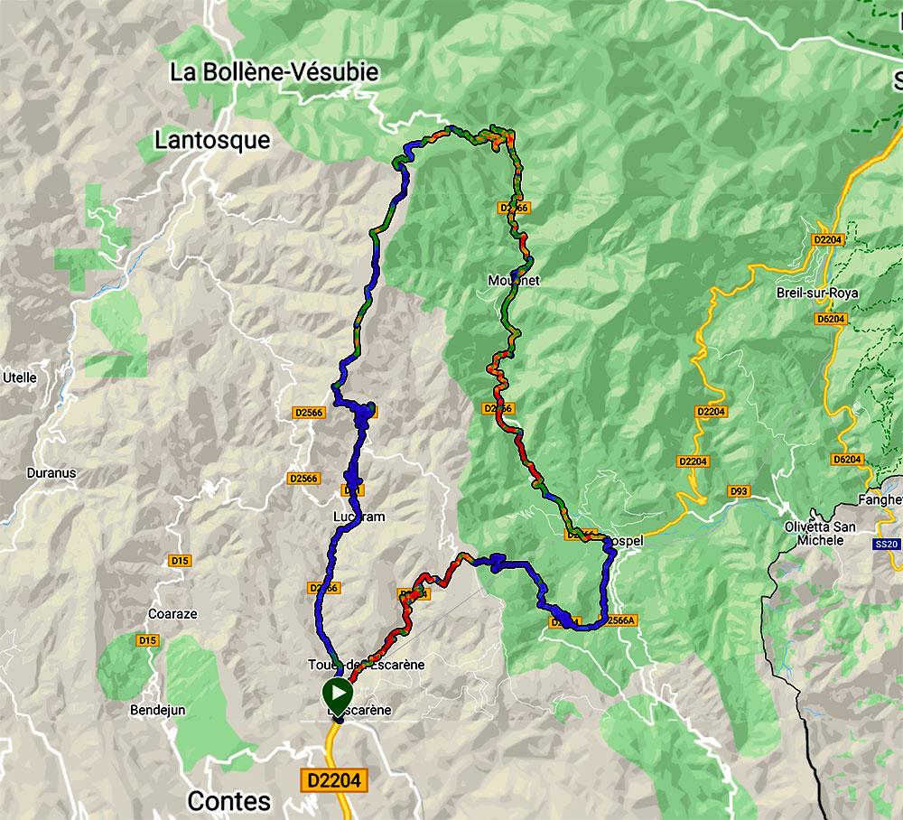 Steve and Carole in Vence - Moulinet, Col de Turini & Col de Braus