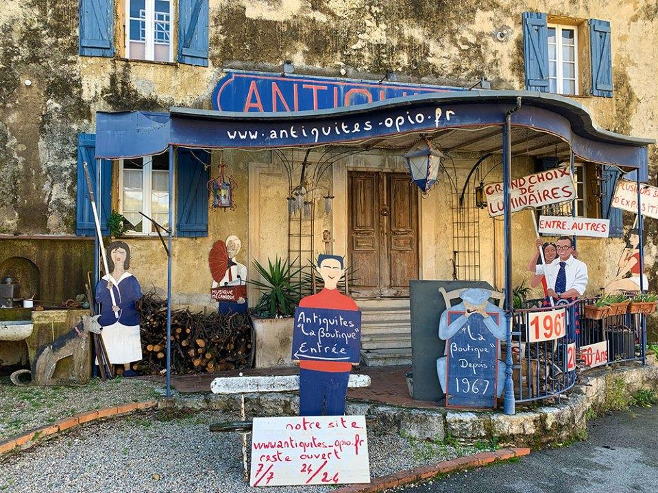 Steve and Carole in Vence - 85 Villages by Bike - La Colle-sur-Loup-Loup, Roquefort-led-Pins, Le Rouret, Opio, Châteauneuf