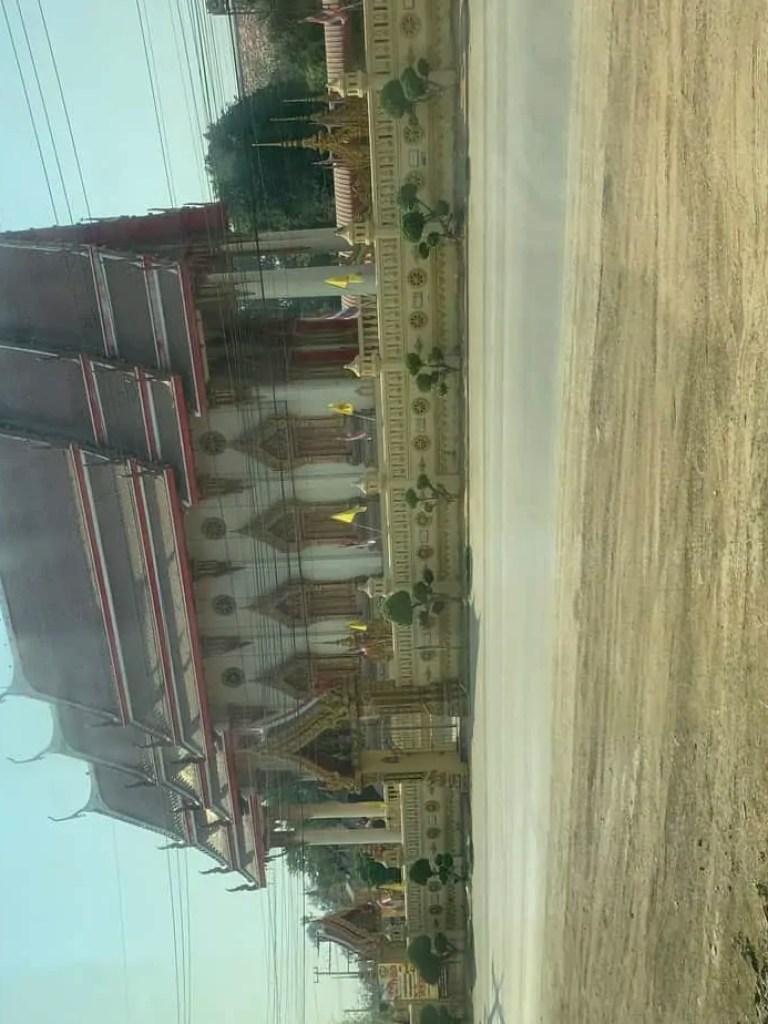 passing a temple