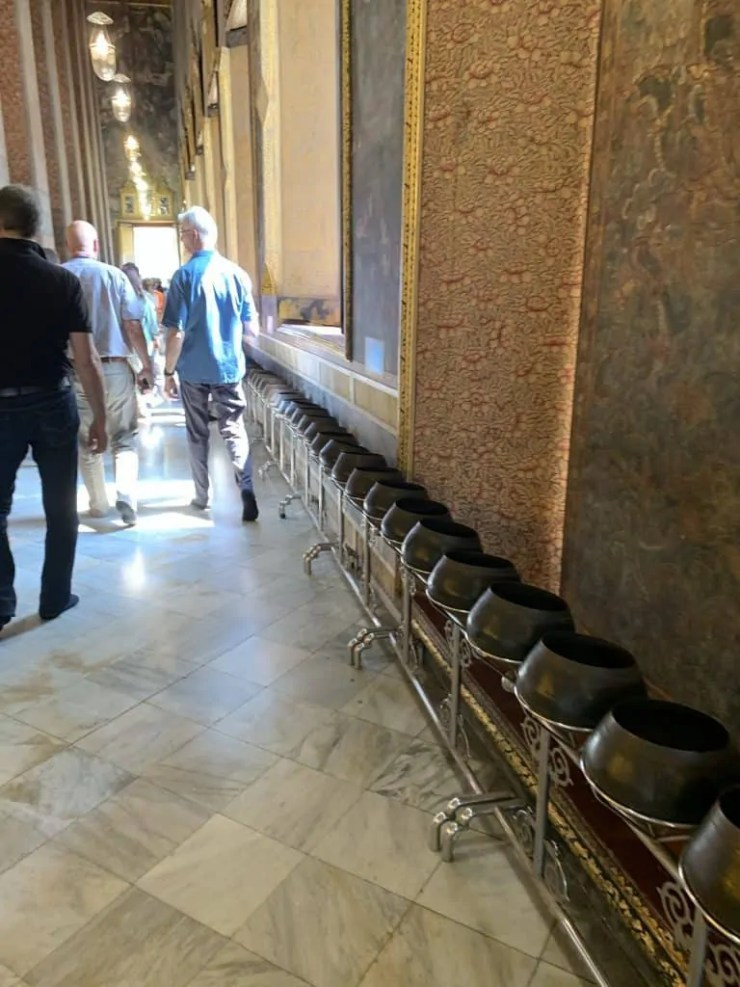 Bronze monk bowls at Wat Pho