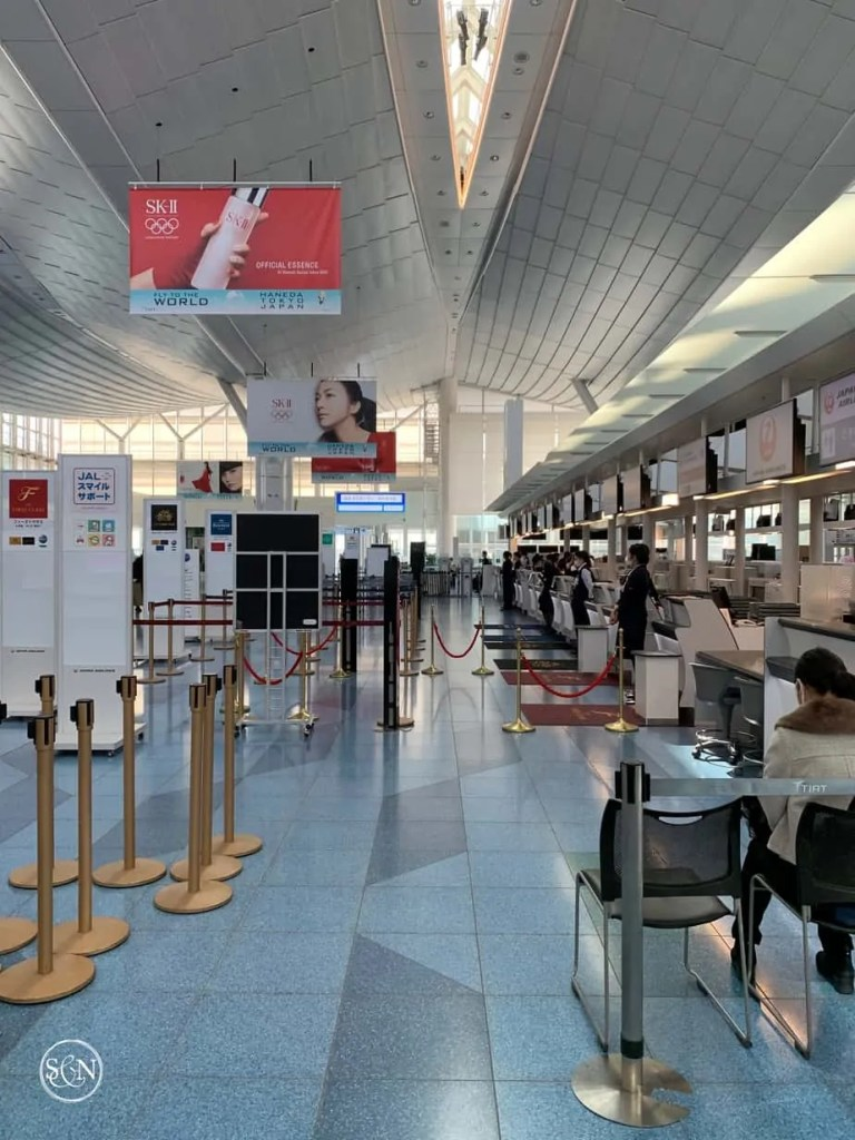 Delta Check in at Haneda