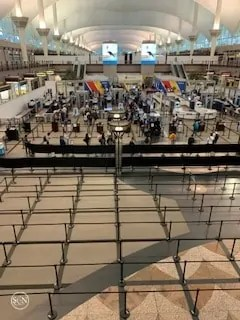 No waiting at security checkpoint