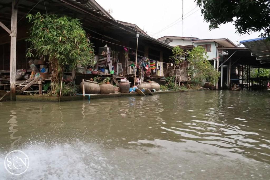 Houses along the canal to Damnoen Saduak Market are full of character!