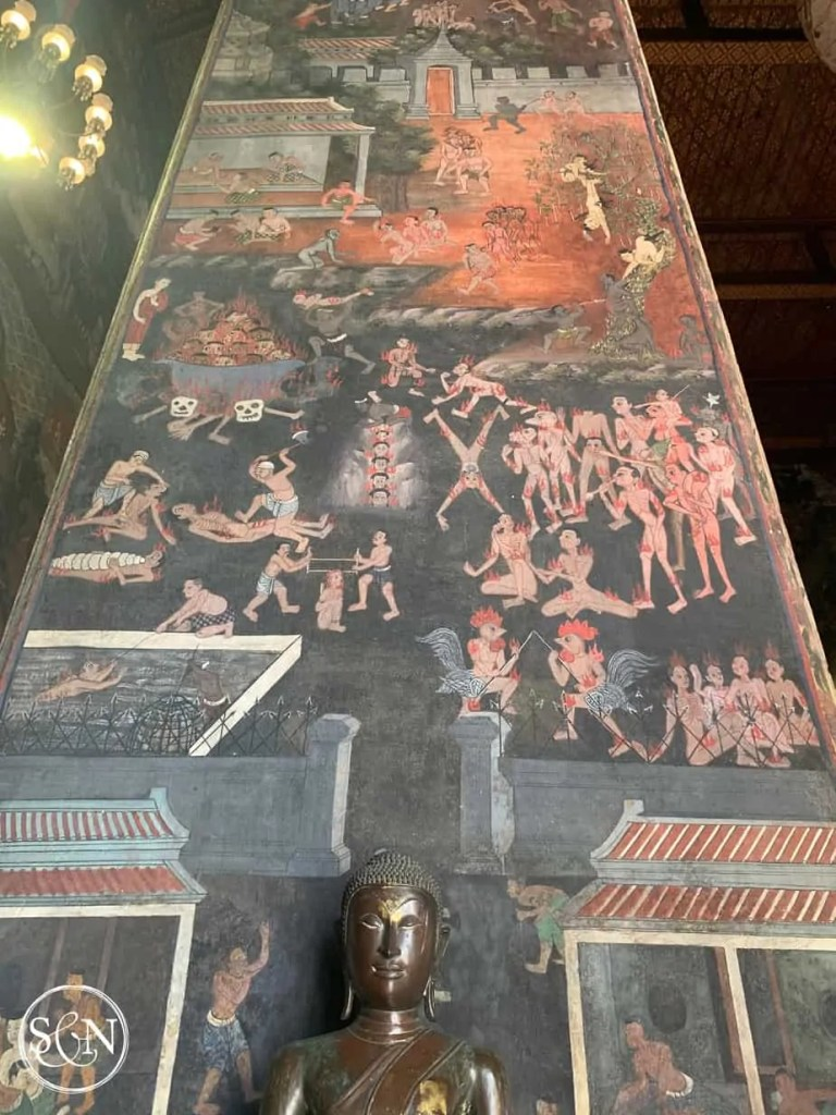 Thailand Wats Temples: Wat Suthat Wall Painting