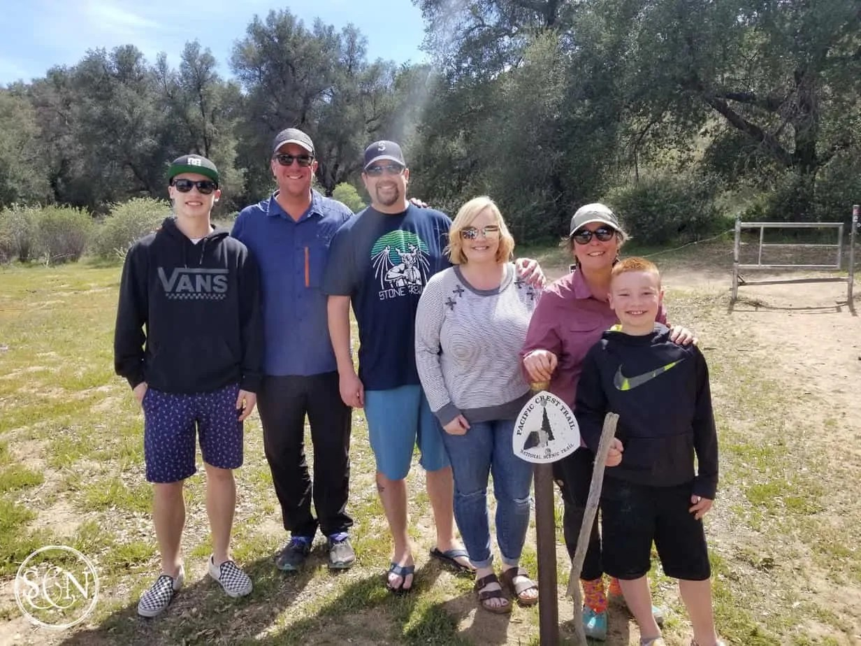 Family visits on the PCT