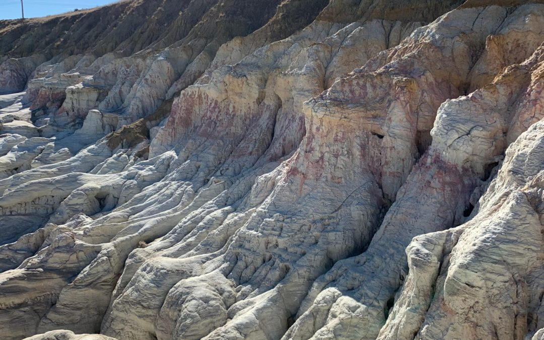 Colorful clay at Paint Mines