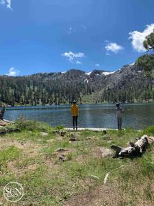 High alpine lake fishing