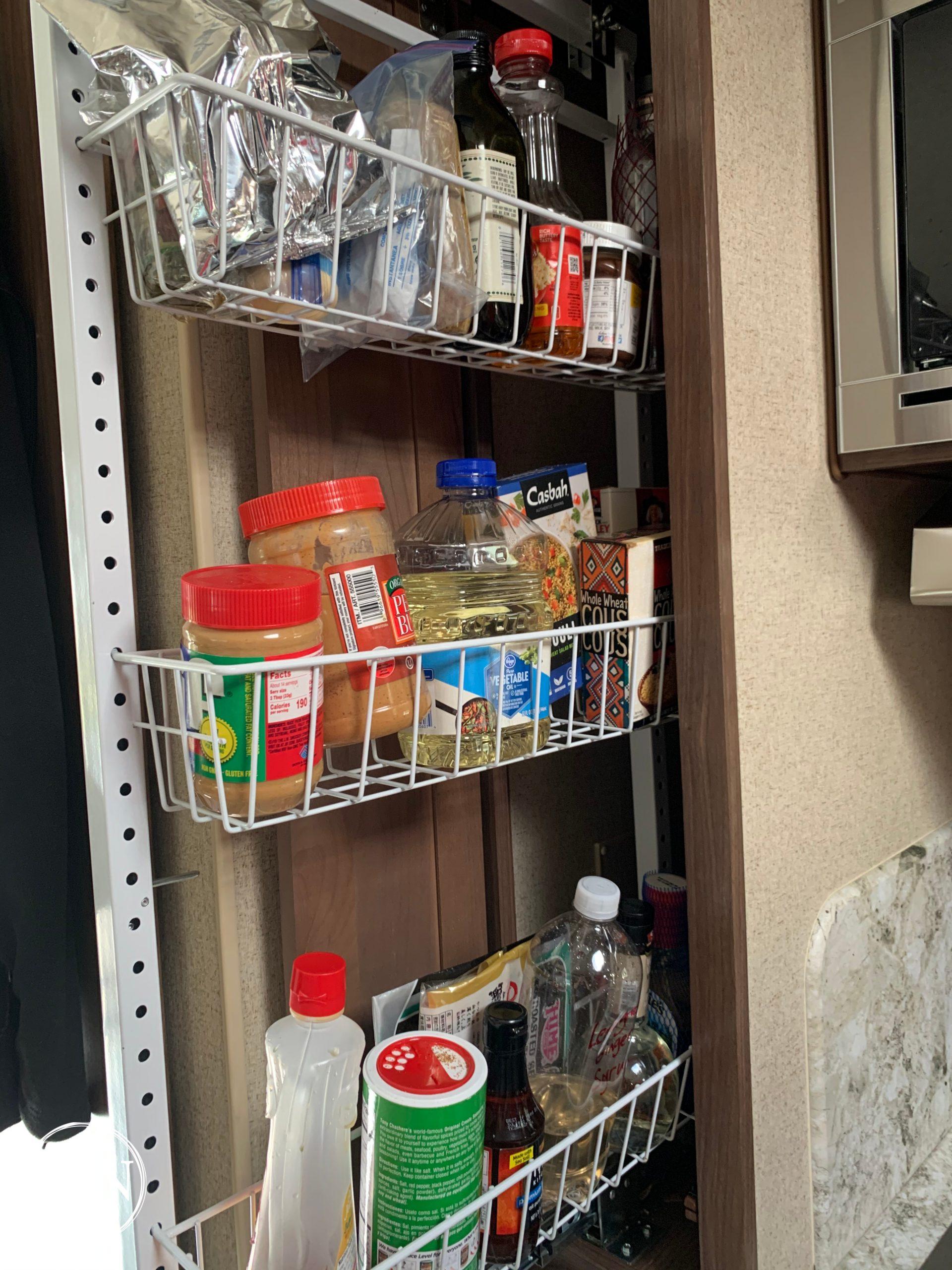 Truck camper storage